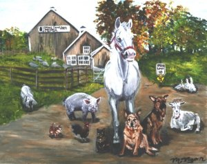 MSPCA Nevins Farm illustration